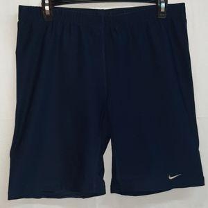 Nike Navy Blue Dri - Fit Spandex Polyester Shorts